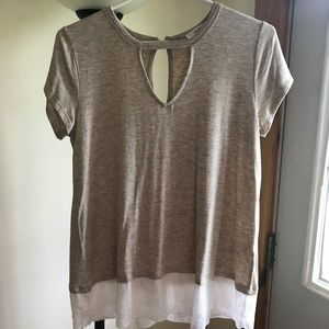 Maurices shirt with lace/chiffon bottom